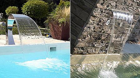 Muro D Acqua Per Interni : Cascata d acqua per piscine