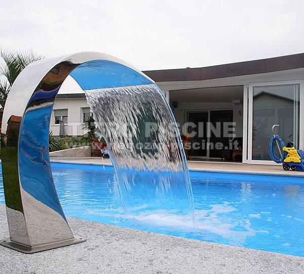Cascata per piscina cobra lucida v4a - Cascate per piscine ...