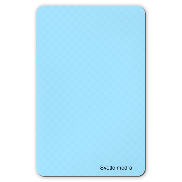 Membrana in pvc di colore azzurro for Colore per piscine