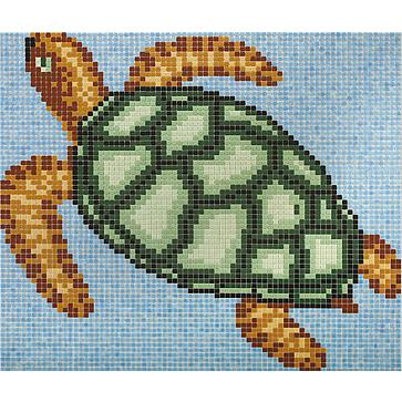 Disegno in mosaico tartaruga - Disegni mosaico per bagno ...