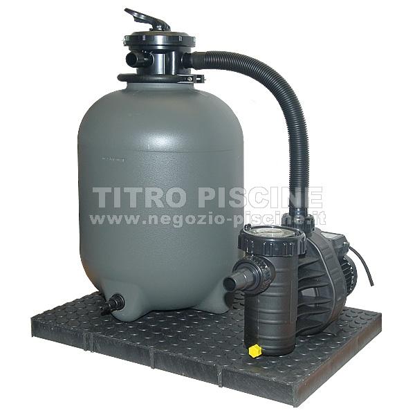 Filtro a sabbia per piscina con pompa aqua technik fi for Filtri piscina